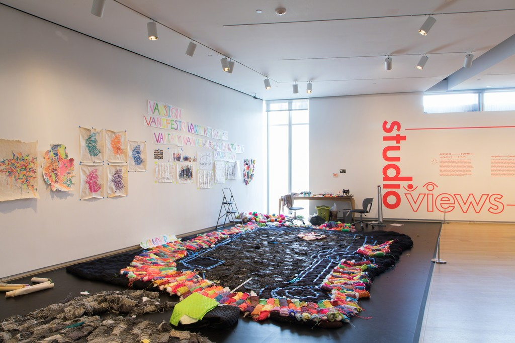Installation view of 'Studio Views: Craft in the Expanded Field'