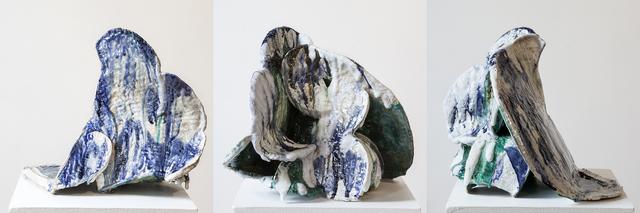 YehRim Lee, 'Folding In', 2019, Sculpture, Stoneware, cone 6 glaze, cone 04 glaze, InLiquid