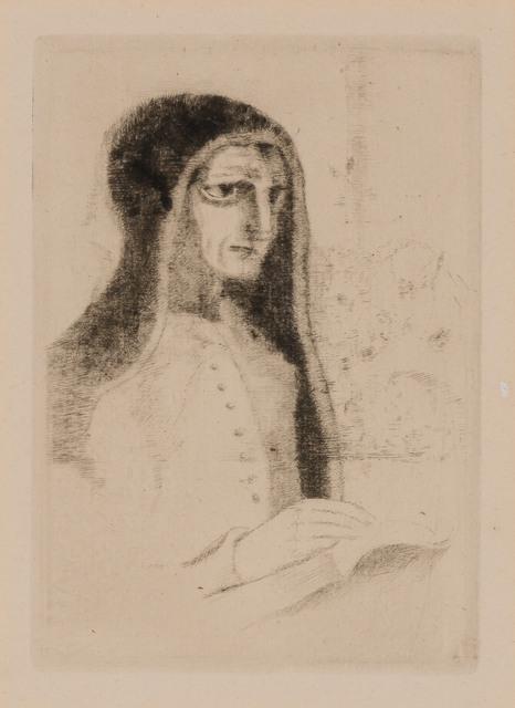 Odilon Redon, 'LE LIVRE OU SAINTE THÉRÈSE (MELLERIO 24)', 1892, Print, Etching and drypoint, Doyle