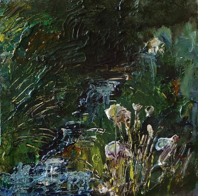 Rose Strang, 'Wells of Arthur's Seat, Stream and Flowers', 2019, Lime Tree Gallery