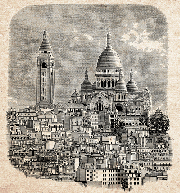 , 'Paris Sacre Coeur Cathedral (Monmartre), France,' 2015, MvVO ART