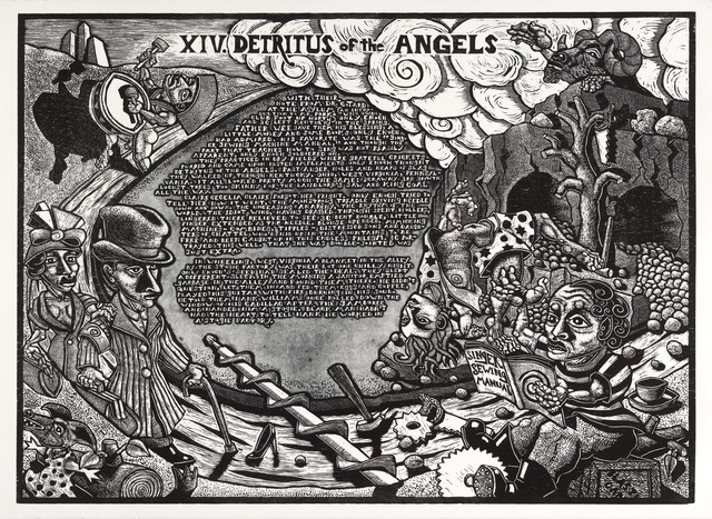 , 'XIV. Detritus of the Angels               The Book of Only Enoch, 2011-2014 A portfolio of 20 woodcuts drawn and cut by Jay Bolotin over a 4 year period,' , Carl Solway Gallery