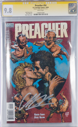 Preacher issue #54, signed by Garth Ennis. CGC graded 9.8