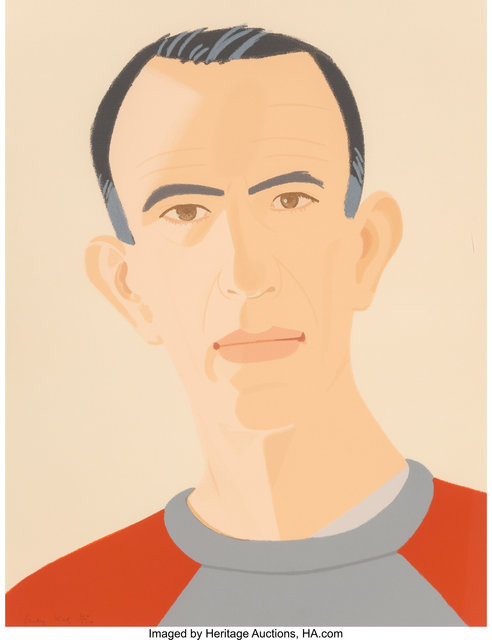 Alex Katz, 'Sweatshirt II (Self portrait), from Alex and Ada, the 1960s to the 1980s series', 1990, Heritage Auctions