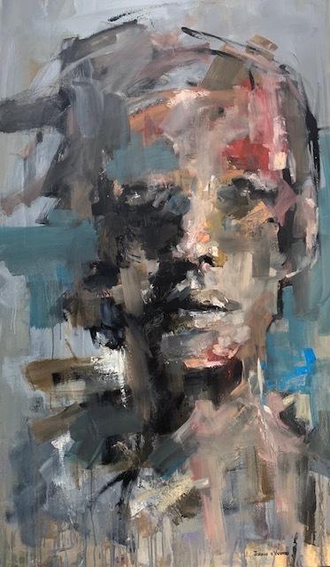 Johan van Vuuren, 'Face Study in Blue', 2019, Painting, Oil on Canvas, Axis Art Gallery