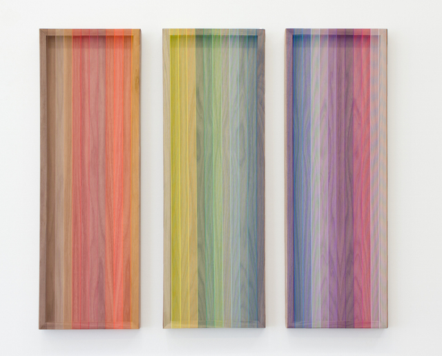 , 'Untitled (spectrum on maple and oak),' 2018, Joshua Liner Gallery
