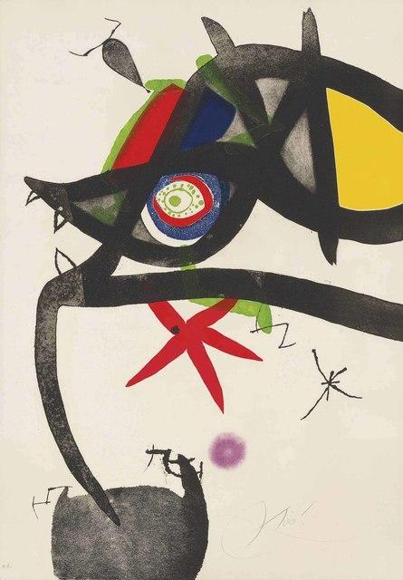 Joan Miró, 'Plate 4, from: Quatre colors aparien el món', 1974, Christie's