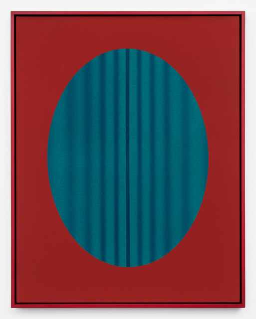 , 'Red Oval with Lines (blue-green),' 2018, DOCUMENT