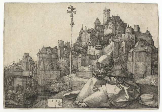 , 'St. Anthony Reading,' 1519, Harris Schrank Fine Prints