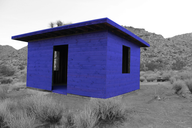 , 'Blue Ghost cabin,' 2018, Joshua Tree Art Gallery