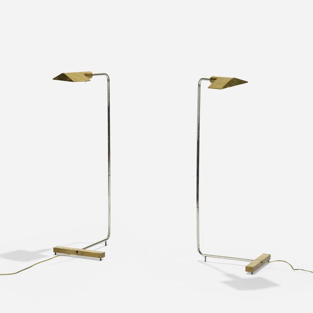 Cedric Hartman, 'floor lamps model 1UWV, pair', 1966, Rago/Wright