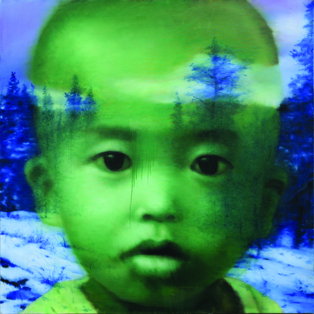 , 'Green Self-Portrait with the Forest,' 2010, Pearl Lam Galleries