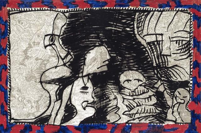 , 'Le face à face dit des deux chaises,' 1990, Galerie Lelong & Co.