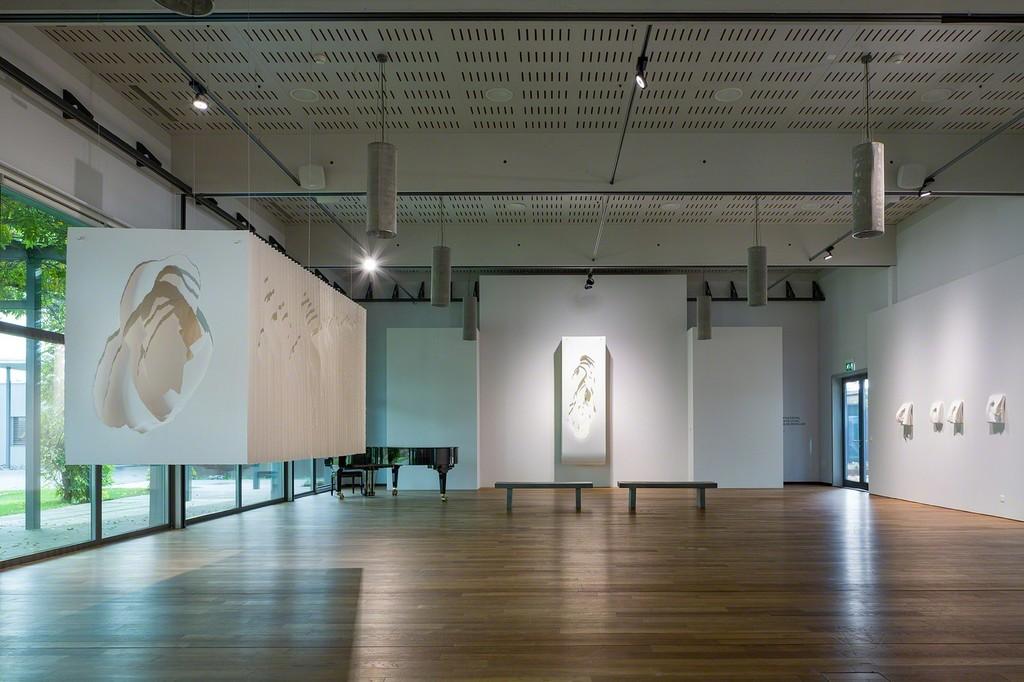 Angela Glajcar's artworks in the grand hall (photo: Markus Beyeler)