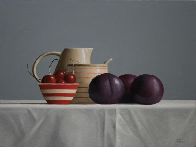 , 'Plums and Cherries,' 2018, Bernay Fine Art