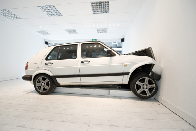, 'Slow Motion Car Crash,' To be installed at The Armory Show-2016, Pierogi