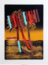 Menashe Kadishman, 'Yellow and Black Palm,' circa 1979, Heritage Auctions: Valentine's Day Prints & Multiples