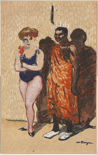 "Kees van Dongen, ""Les Artistes du Cirque"", watercolor and ink on paper, 1904.
