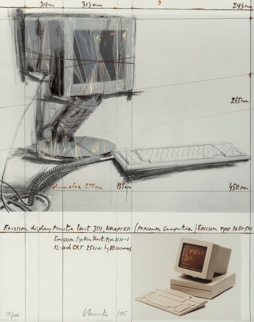 Christo and Jeanne-Claude, 'Ericsson display monitor Unit 3111, Wrapped, (Personal Computer), Ericsson Type 1050-545', 1985, Heritage Auctions