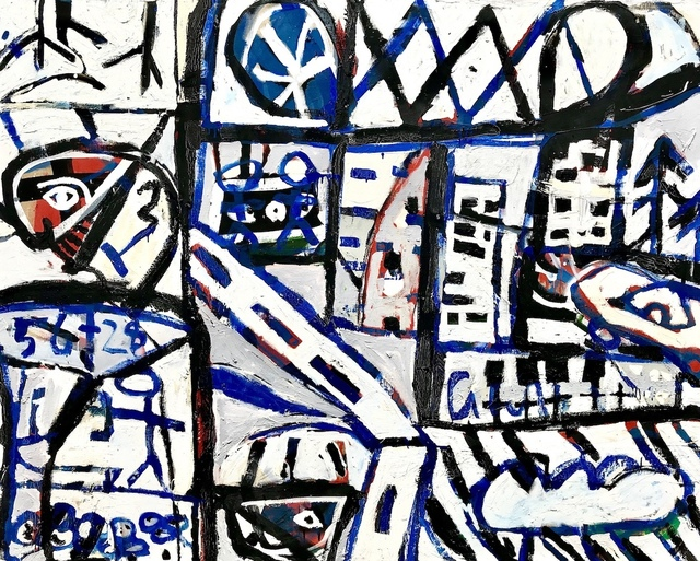 David Larwill, 'On the Street (Dyptich)', 1984, Angela Tandori Fine Art