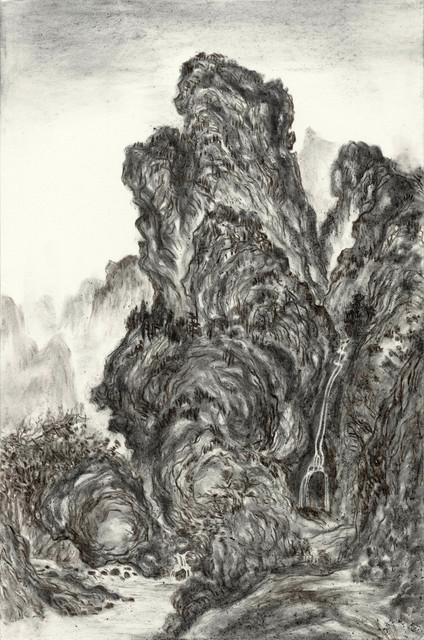 , 'Fiery Ink, Waiting to Cross a Mountain Stream by Guan Tong ,' 2017, Tina Keng Gallery