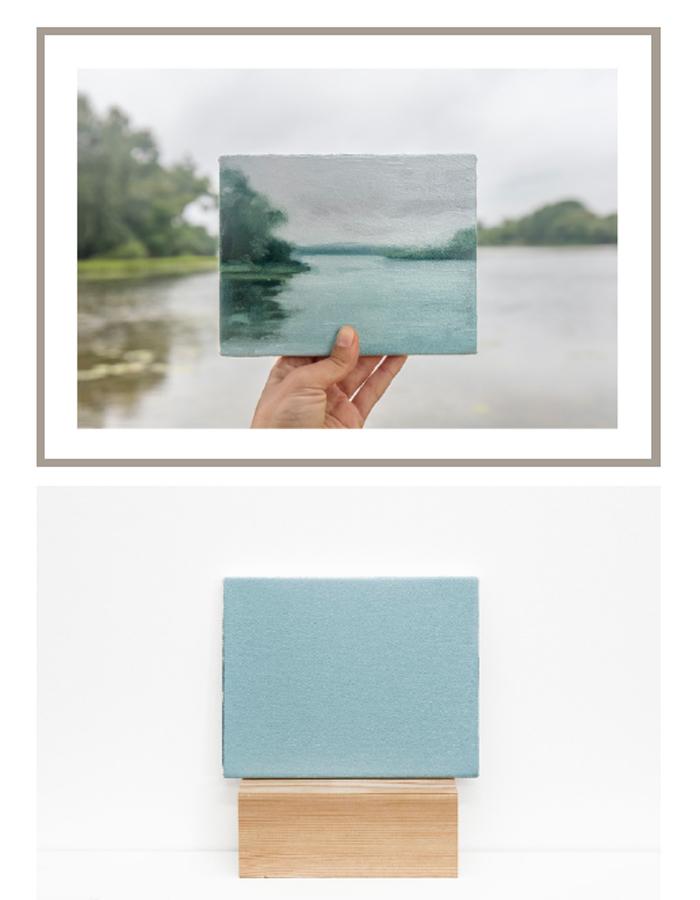 Lake Wingra, 30/06/2017  -  photograph and painting