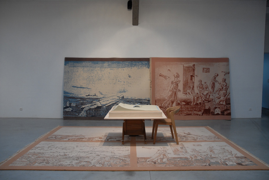 Art of the Loom, 2011 - Ilya & Emilia Kabakov, installation of carpets and sculptures