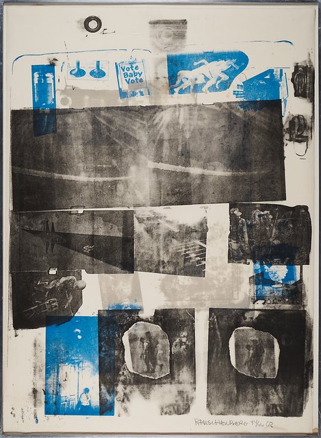 Robert Rauschenberg, 'Guardian', 1968, Print, Lithograph in colors (framed), Rago/Wright