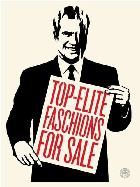 Shepard Fairey (OBEY), 'Top elite faschions for sale', 2011, Rudolf Budja Gallery