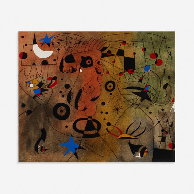 Joan Miró, 'Femme a la blonde aisselle coiffant sa chevelure a la lueur des etoiles (from the Constellations portfolio)', 1959, Rago/Wright