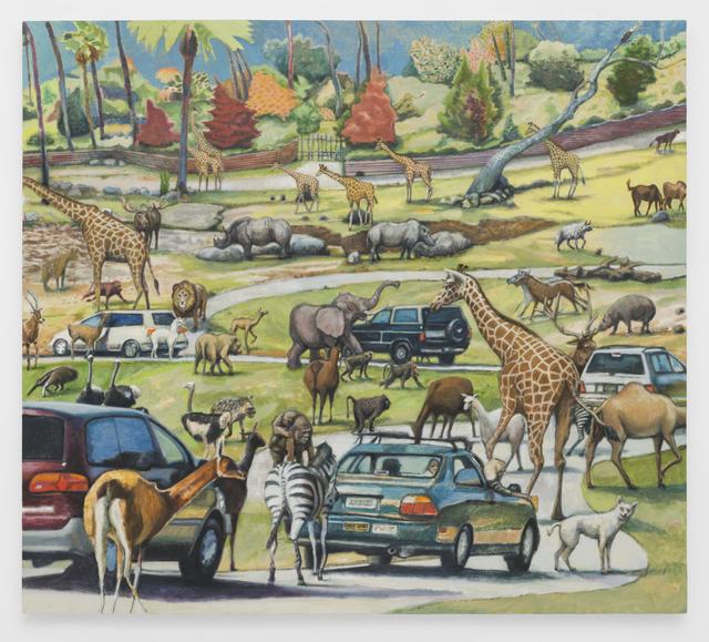 , 'Drive-Thru Zoo,' 2019, M+B
