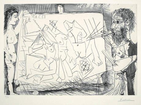 , 'Dans l'Atelier [Peintre a son chevalet avec un modele],' 1965, Marlborough Gallery