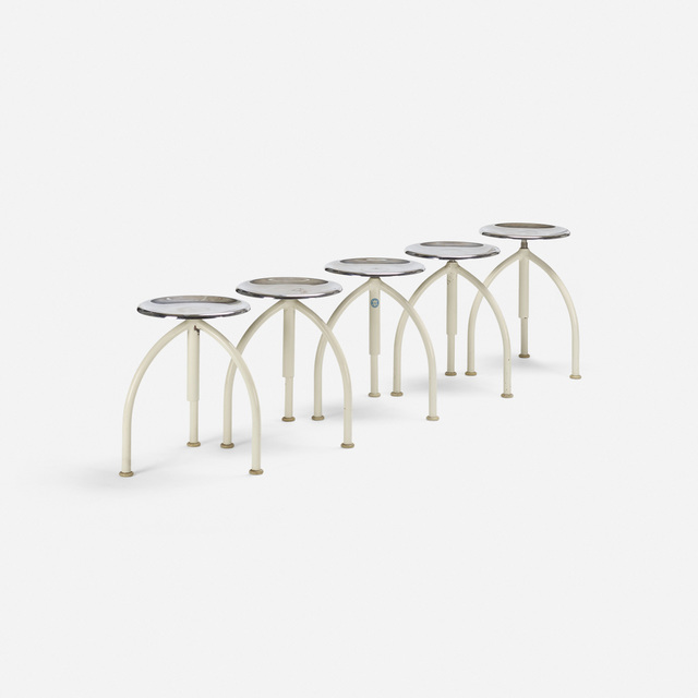 'Army stools, set of five', c. 1960, Wright