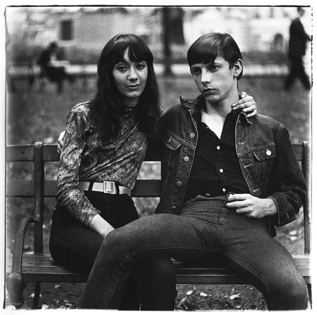 , 'Young couple on a bench in Washington Square Park, NYC,' 1965, ClampArt