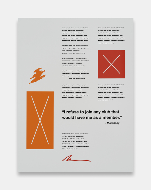 , 'I Refuse (Morrissey),' 2014, Foxy Production