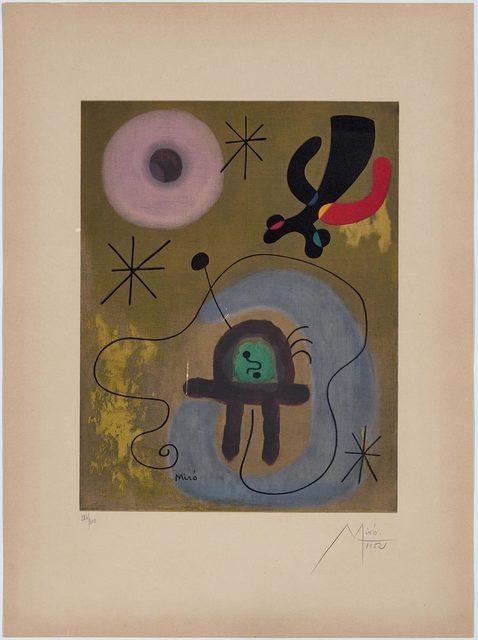Joan Miró, 'Mauve de la lune', 1952, Koller Auctions