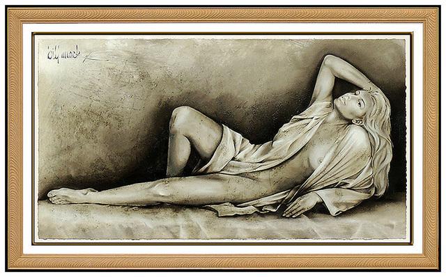 Bill Mack, 'Bill Mack Embossed Large Mixed Media Radiance Signed Nude Female Sculpture Art', 20th Century, Sculpture, Embossed Mixed Media, Original Art Broker