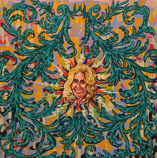 , 'Tammy Wynette White Lightnin' Mandala,' 2016, Ro2 Art
