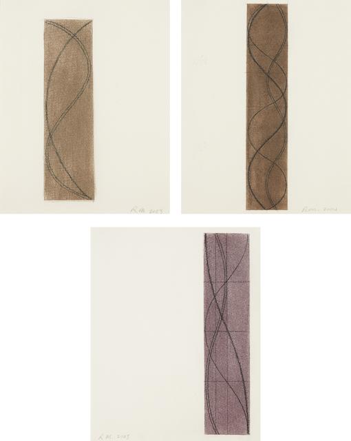 Robert Mangold, 'Untitled (three Column drawings)', 2003 -2005, Phillips