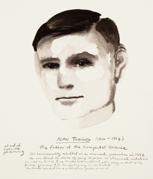 Marlene Dumas, 'Alan Turing ', 2015, Caviar20