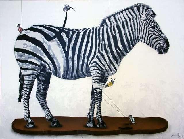 , 'Rats dressing Zebra,' 2018, NextStreet Gallery
