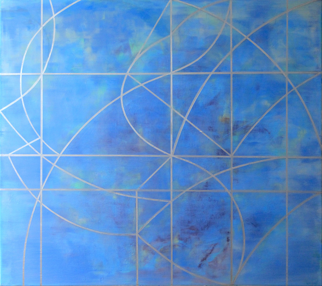 Gudrun Mertes-Frady, 'IN THE AIR', 2019, Painting, Oil and metallic paint on linen, Kathryn Markel Fine Arts