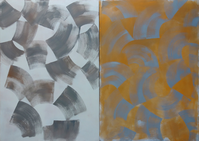 , 'Diptych (Grey Orange),' 2016, George Lawson Gallery