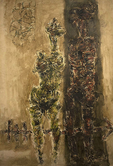 , 'Two Figures,' 1960, Aicon Gallery