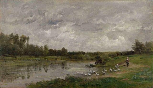 , 'Les gardeuses d'oies,' 1874, Stoppenbach & Delestre