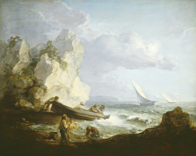 Thomas Gainsborough, 'Seashore with Fishermen', ca. 1781/1782, National Gallery of Art, Washington, D.C.