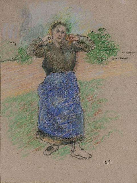, 'Paysanne Nouant son Foulard (Peasant Arranging her Scarf),' 19th Century, M.S. Rau Antiques