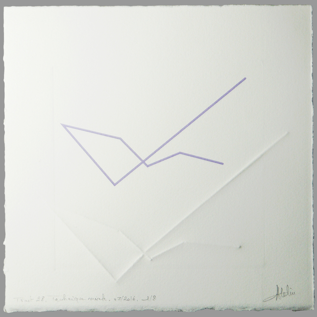 CHANTAL ATELIN, 'Trait 28', 2016, Galerie Marie-Robin