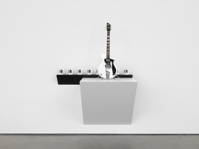, 'Untitled (piano mugs, David Bowie guitar),' 2019, White Cube