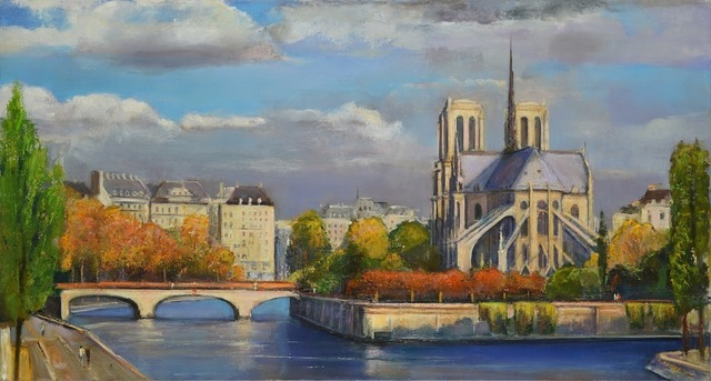 , 'The Seine, Autumn Afternoon,' 2014, Madelyn Jordon Fine Art